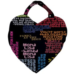 Panic At The Disco Northern Downpour Lyrics Metrolyrics Giant Heart Shaped Tote by Samandel