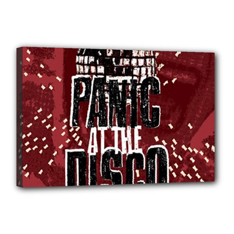 Panic At The Disco Poster Canvas 18  X 12