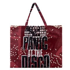 Panic At The Disco Poster Zipper Large Tote Bag by Samandel