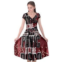 Panic At The Disco Poster Cap Sleeve Wrap Front Dress