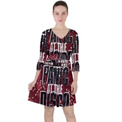 Panic At The Disco Poster Ruffle Dress by Samandel