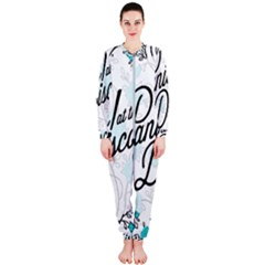 Panic At The Disco Quote Onepiece Jumpsuit (ladies)  by Samandel