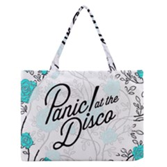 Panic At The Disco Quote Zipper Medium Tote Bag by Samandel