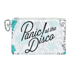 Panic At The Disco Quote Canvas Cosmetic Bag (large) by Samandel