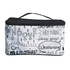 Panic At The Disco Lyrics Cosmetic Storage Case by Samandel
