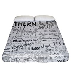 Panic At The Disco Lyrics Fitted Sheet (queen Size) by Samandel