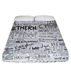 Panic At The Disco Lyrics Fitted Sheet (california King Size) by Samandel