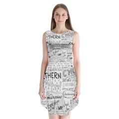 Panic At The Disco Lyrics Sleeveless Chiffon Dress   by Samandel