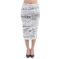 Panic At The Disco Lyrics Midi Pencil Skirt by Samandel