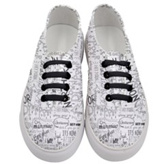 Panic At The Disco Lyrics Women s Classic Low Top Sneakers