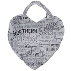 Panic At The Disco Lyrics Giant Heart Shaped Tote