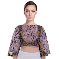 Panic! At The Disco Tie Back Butterfly Sleeve Chiffon Top