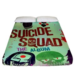Panic! At The Disco Suicide Squad The Album Fitted Sheet (california King Size) by Samandel