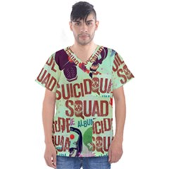 Panic! At The Disco Suicide Squad The Album Men s V Neck Scrub Top