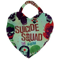 Panic! At The Disco Suicide Squad The Album Giant Heart Shaped Tote by Samandel