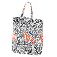 Paramore Is An American Rock Band Giant Grocery Zipper Tote by Samandel