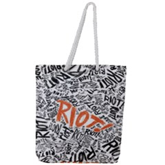 Paramore Is An American Rock Band Full Print Rope Handle Tote (large) by Samandel