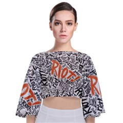 Paramore Is An American Rock Band Tie Back Butterfly Sleeve Chiffon Top