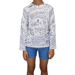 Panic! At The Disco Lyrics Kids  Long Sleeve Swimwear by Samandel