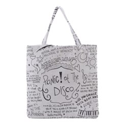 Panic! At The Disco Lyrics Grocery Tote Bag by Samandel