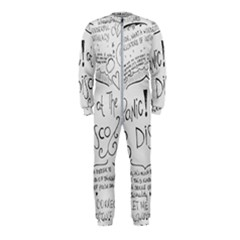 Panic! At The Disco Lyrics Onepiece Jumpsuit (kids) by Samandel