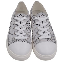 Panic! At The Disco Lyrics Women s Low Top Canvas Sneakers