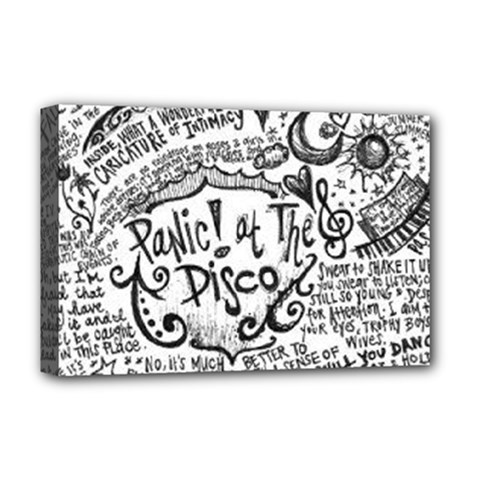 Panic! At The Disco Lyric Quotes Deluxe Canvas 18  X 12   by Samandel