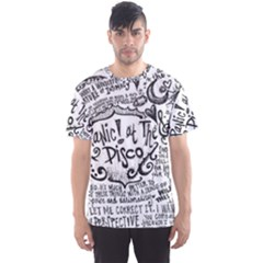 Panic! At The Disco Lyric Quotes Men s Sports Mesh Tee