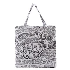 Panic! At The Disco Lyric Quotes Grocery Tote Bag by Samandel