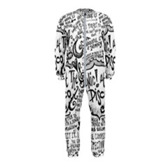 Panic! At The Disco Lyric Quotes Onepiece Jumpsuit (kids) by Samandel