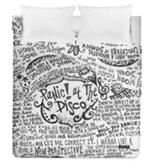 Panic! At The Disco Lyric Quotes Duvet Cover Double Side (queen Size) by Samandel