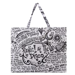 Panic! At The Disco Lyric Quotes Zipper Large Tote Bag by Samandel