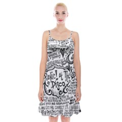 Panic! At The Disco Lyric Quotes Spaghetti Strap Velvet Dress by Samandel