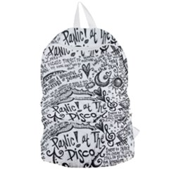 Panic! At The Disco Lyric Quotes Foldable Lightweight Backpack by Samandel