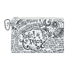 Panic! At The Disco Lyric Quotes Canvas Cosmetic Bag (large) by Samandel