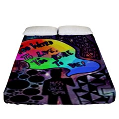 Panic! At The Disco Galaxy Nebula Fitted Sheet (king Size) by Samandel