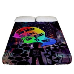 Panic! At The Disco Galaxy Nebula Fitted Sheet (california King Size)