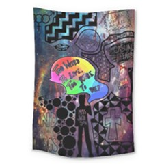 Panic! At The Disco Galaxy Nebula Large Tapestry by Samandel