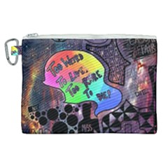 Panic! At The Disco Galaxy Nebula Canvas Cosmetic Bag (xl)