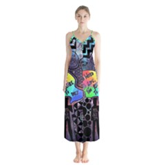 Panic! At The Disco Galaxy Nebula Button Up Chiffon Maxi Dress