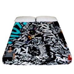 Panic! At The Disco College Fitted Sheet (queen Size) by Samandel