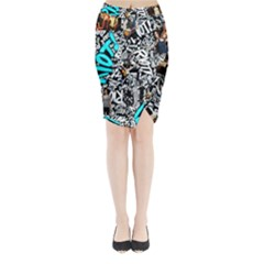 Panic! At The Disco College Midi Wrap Pencil Skirt