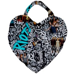 Panic! At The Disco College Giant Heart Shaped Tote by Samandel