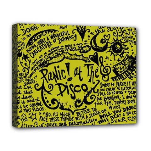Panic! At The Disco Lyric Quotes Deluxe Canvas 20  X 16   by Samandel