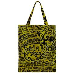 Panic! At The Disco Lyric Quotes Zipper Classic Tote Bag by Samandel