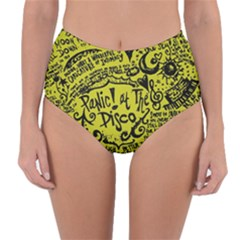 Panic! At The Disco Lyric Quotes Reversible High Waist Bikini Bottoms