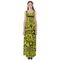 Panic! At The Disco Lyric Quotes Empire Waist Maxi Dress by Samandel
