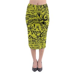 Panic! At The Disco Lyric Quotes Midi Pencil Skirt by Samandel