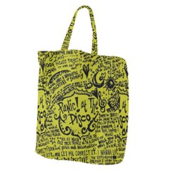 Panic! At The Disco Lyric Quotes Giant Grocery Zipper Tote