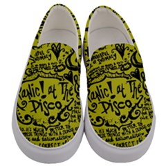 Panic! At The Disco Lyric Quotes Men s Canvas Slip Ons